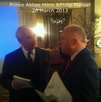 Prince Abbas Hilmi and Philip Mansel