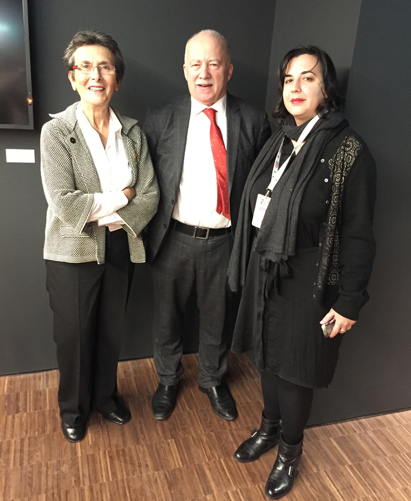 Philip Mansel with Melis and Nigar Alemdar